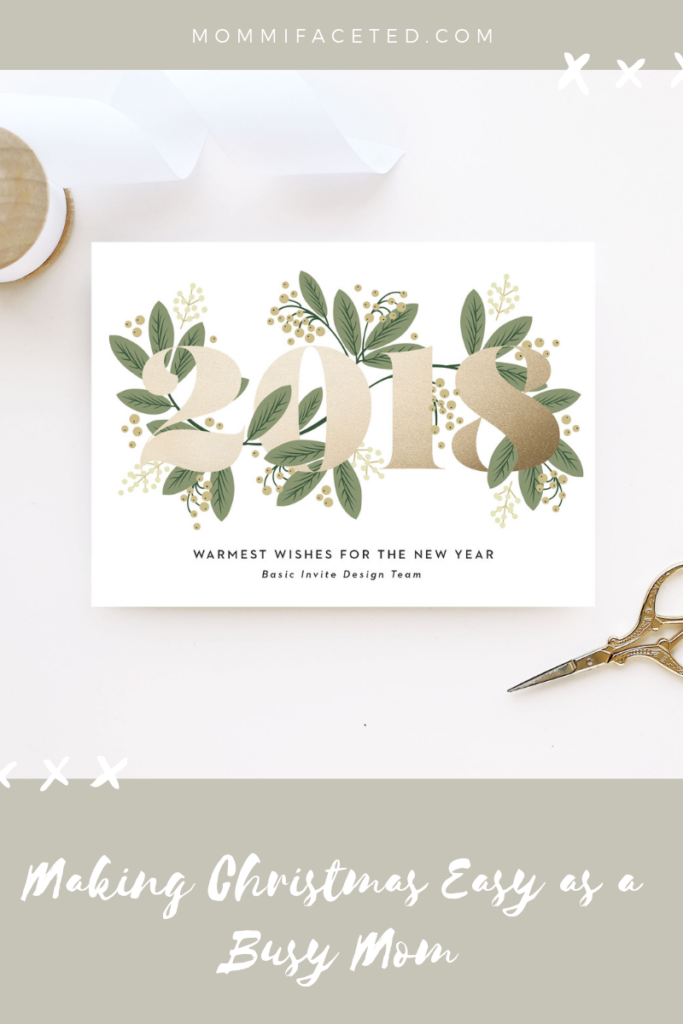 christmas as a busy mom, christmas card
