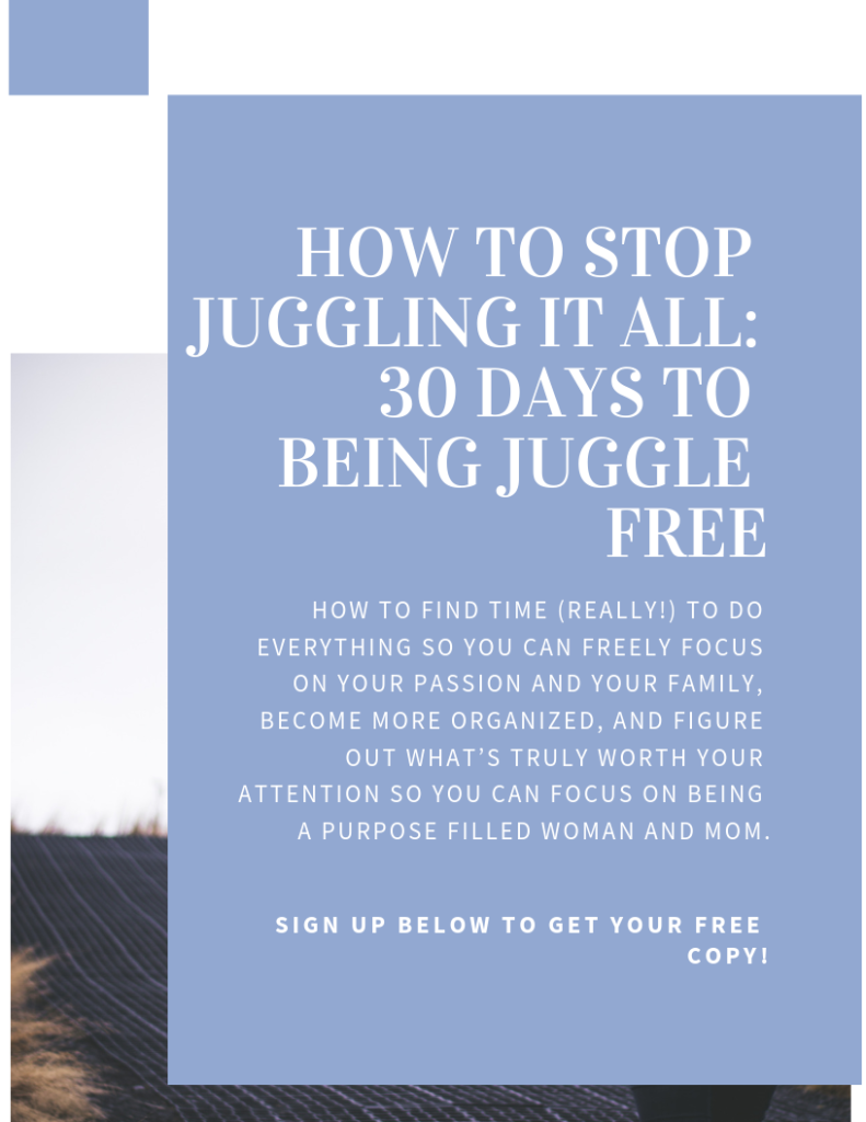 how to stop juggling, juggle it all