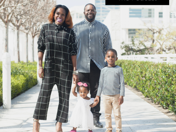 black family, black mom with her husband and children