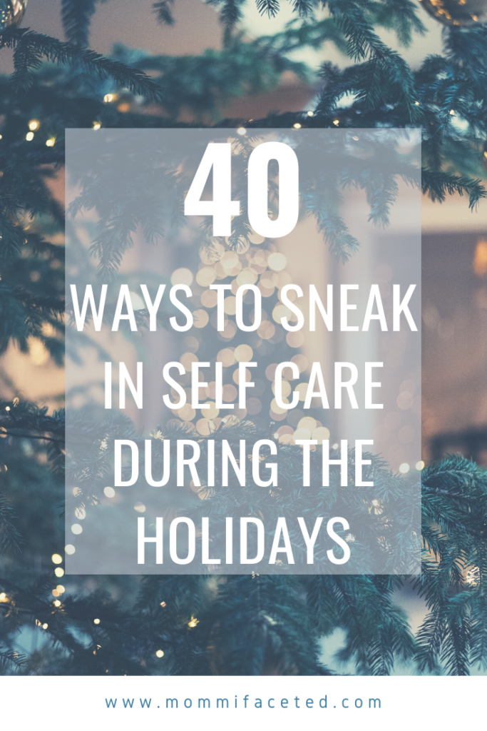 self care during the holidays
